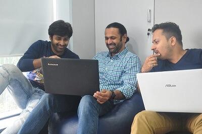 Pritesh Patel with Team
